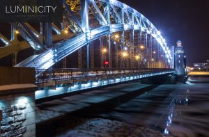 STEEL BRIDGE COOL-WHITE ILLUMINATED USING LED