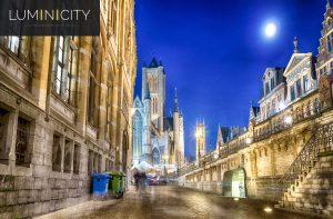 CITY CENTER OF GENT ILLUMINATED