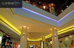 SHOPPING CENTER WITH COLOURFUL CEILINGS